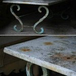 sold05 large marble top table with metal base