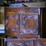 sold43 18c French fruitwood buffet
