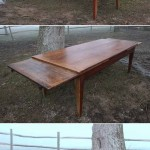 sold55 early 19c French fruitwood extending farmhouse table