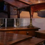sold62 early 19c French fruitwood double extending farm table